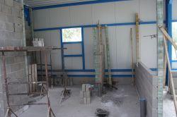 Binnenmuren in aanbouw